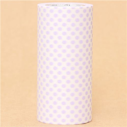 extra wide mt Casa Washi Tape 10cm lilac dots deco tape