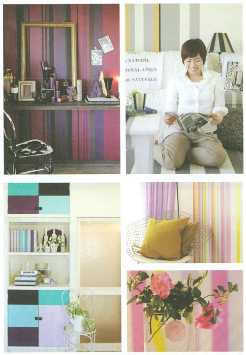 Walls and furniture look super pretty with stripes of mt Casa Washi Tapes