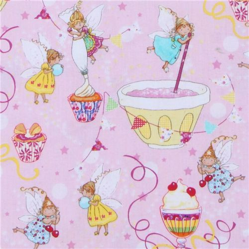 Michael Miller designer fabric Sugar Fairies cute fairy