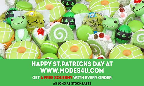 Get a St Patrick's Day free gift surprise with your order!