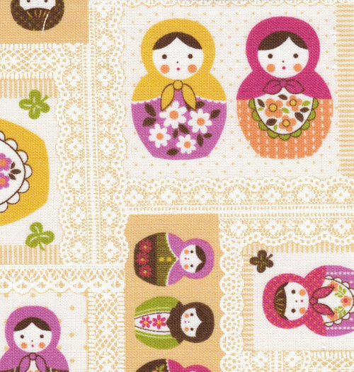 Matryoshka Fabric from Kokka