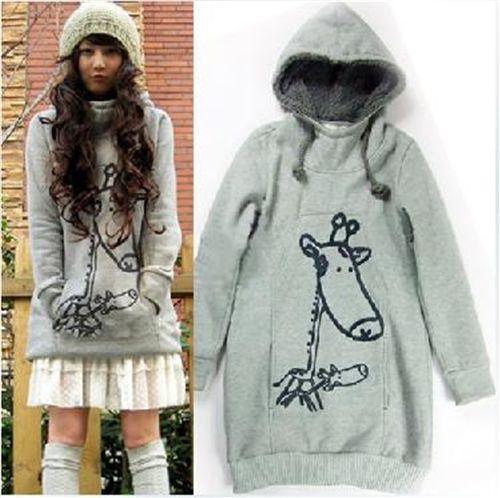 cute hoodie with giraffe print